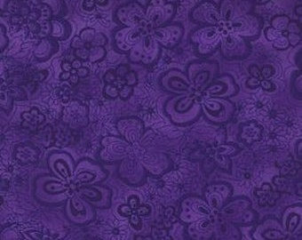 108'' Blank Quilting Eggplant Isadora Wide Backing by the Yard 6939-EGGPLANT