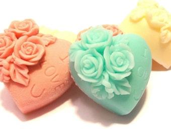 20 Baby shower soap favors, Pink heart soap favor, Soap baby shower favor, Wedding heart soap shower favor, Heart baby shower favors soap