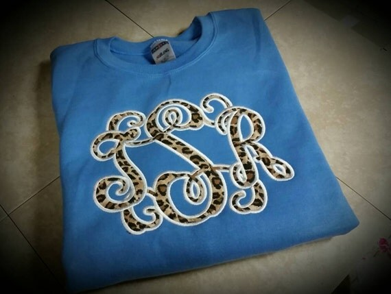 Leopard Print Monogram Sweatshirt