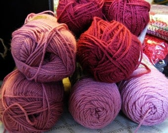 Acrylic Yarn Bundle - 6 Skeins, Assorted Colors