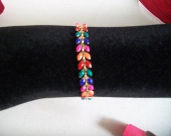 gold chain bracelet spikes