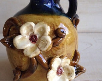 "7"" Jug with applied Flowers"