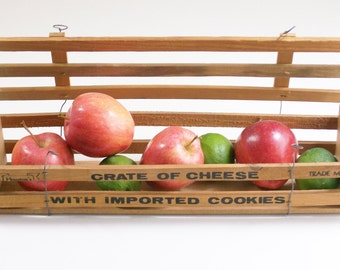 Vintage Wooden Cheese Box, Cheese Crate, Advertising Box
