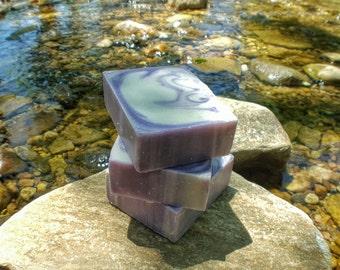 Soap - Bergamot Violet Vegan Soap, Cold Process Soap, Bar Soap, Handmade Soap, Natural Soap, Free Shipping, Pretty Soap, Purple Soap