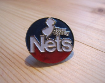 Vintage New Jersey Nets NBA Lapel/ Hat Pin