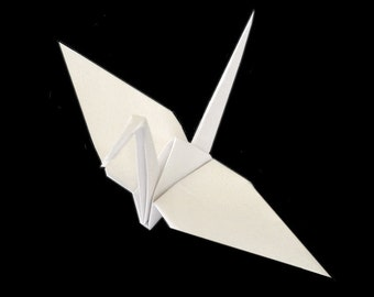 White Origami Cranes (50) , White Cranes, White Wedding Decor , Paper Cranes , Folded Cranes