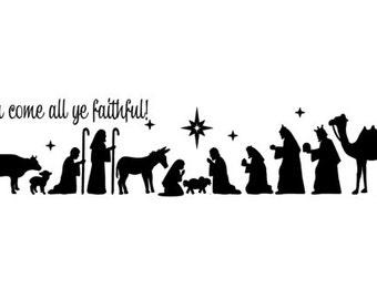 Nativity Scene Vinyl Decal