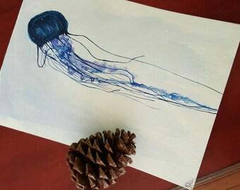 "9""x12"" ""Colorblind Ocean"" Watercolor, 2016"
