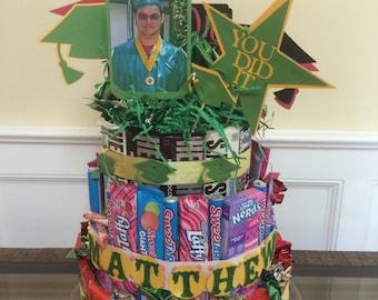 Made to Order Candy Cake--centerpiece birthday graduation birthday