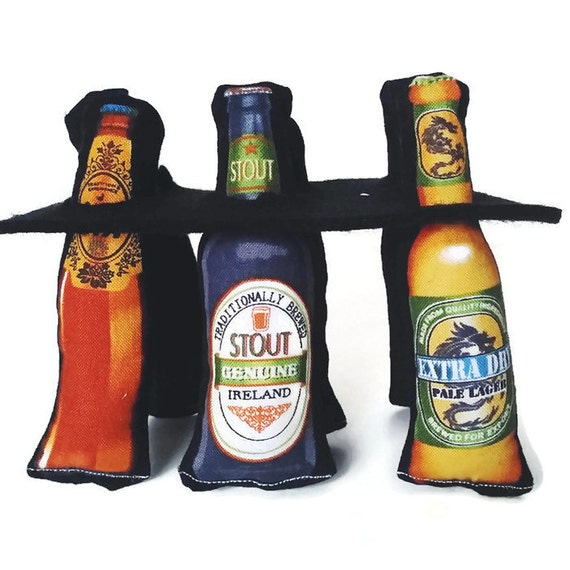 Beer Six-Pack Catnip or Valerian Toys