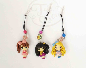 polymer clay cute chibi doll plug