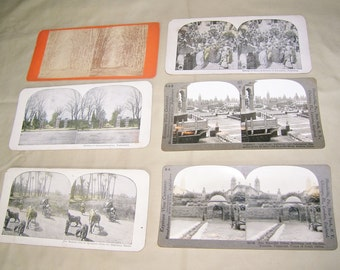 Six 3-D Viewing Cards for Stereoscope