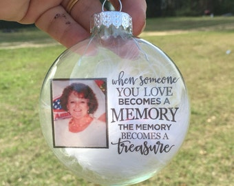 Keepsake ornaments-photo Christmas ornament-memorial ornament-custom ornament-remembrance ornament-memorial gifts
