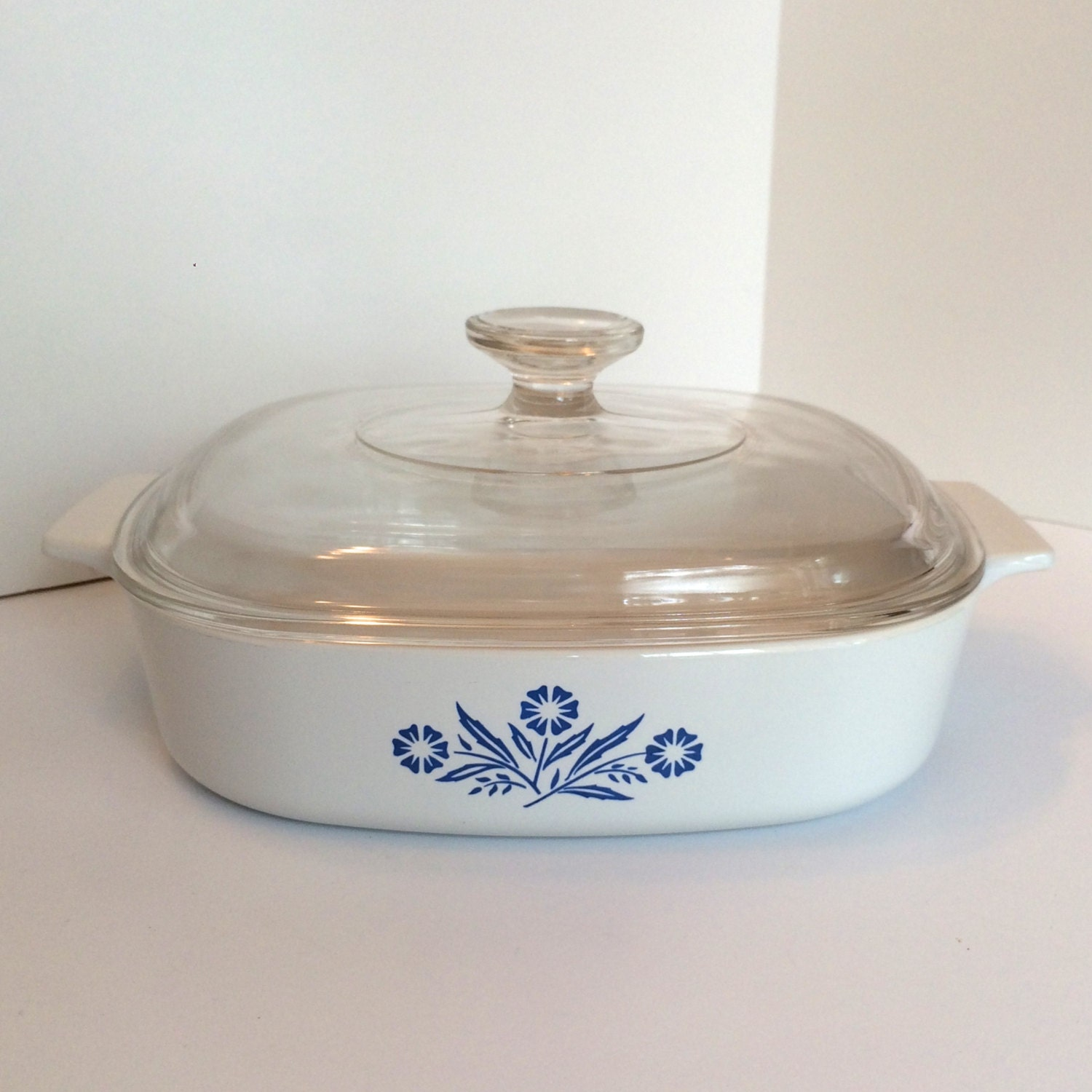 Vintage Corning Ware Cornflower Blue A 8 B Skillet And Cover