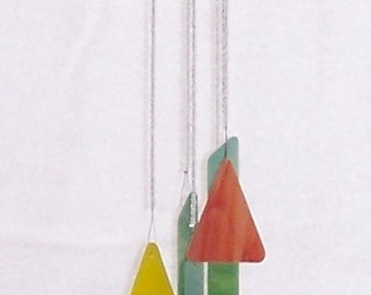 Handmade Handcrafted Stained Glass Wind Chime Suncatcher