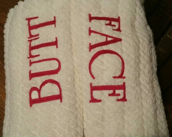 Fun embroidered gift towel.