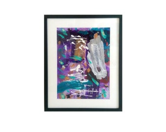 """RESERVED ORIGINAL Acrylic Painting on Canvas Sheet Framed - 16"""" x 12"""" - Invasion"""