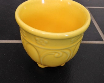 Pair of Bright Yellow Pots