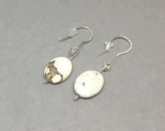 Natural stone on sterling silver