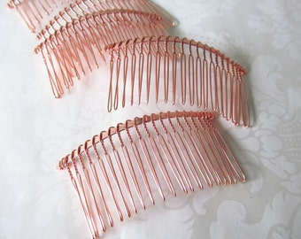 Rose Gold Metal comb / 20 teeth comb / CB-6 Rose Gold