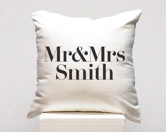 Personalised Cushion - Mr & Mrs Cushion