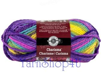 Charisma PASSION Bulky yarn, Loops and Threads yarn, chunky yarn, Bright colors multi color yarn, Chunky yarn, thick yarn, fast knit yarn