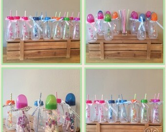 Baby Shower Party Bottles Drinks Gifts Games Sweets Set x 10