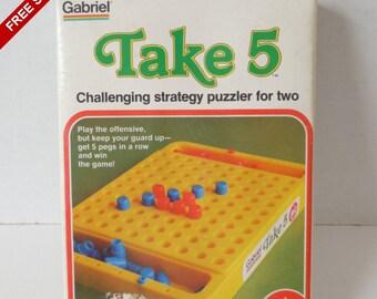 Vintage 1977 Gabriel Take 5 Hi-Q Game #77452 COMPLETE
