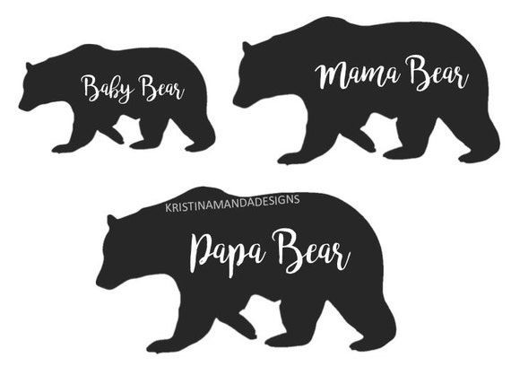 128+ Momma And Baby Bear Svg – SVG,PNG,DXF,EPS include