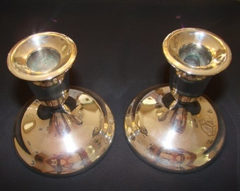 SALE***Vintage Silver Plate Candle Holders