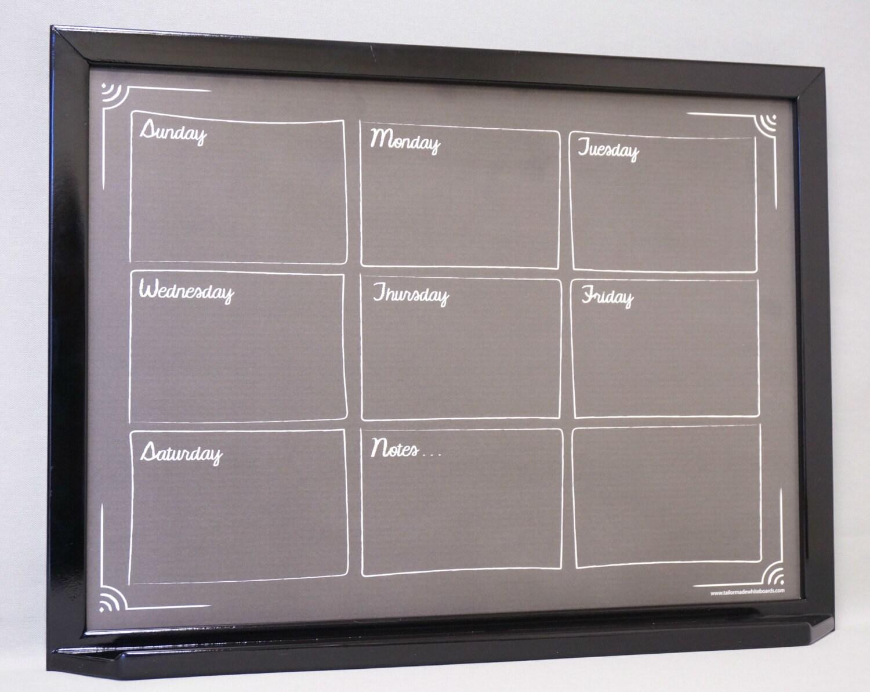 NEW Weekly Planner Black Chalkboard Dry Erase Calendar