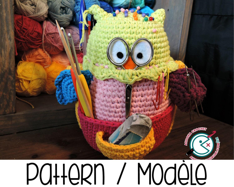 Amigurumi Supplies : Pdf pattern owlivia the crochet owlganizer amigurumi