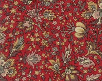 Moda Fabric French General Madame Rouge Safran 13770-11...Sold in continuous cut 1/2 yard increments