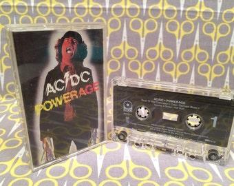 Powerage by AC/DC Cassette Tape rock heavy metal