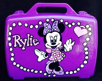 Minnie activity case, kids activity case, art case, character art case, small toy box, small fame box