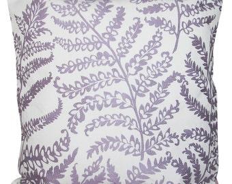 Clarke & Clarke Wild Fern Lilac Woodland Nature Cushion Cover