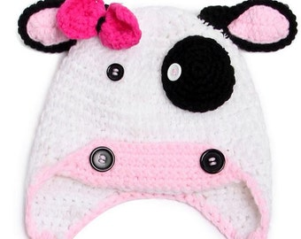 Cow - Crochet Kids Hat
