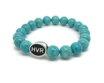 Hanover Bracelet, HVR, Hanover Jewelry, Hanover Gift, Turquoise Riverstone