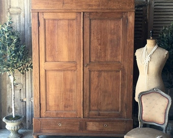 NOW SOLD - Pretty, original vintage Belgian knockdown wardrobe  / cupboard