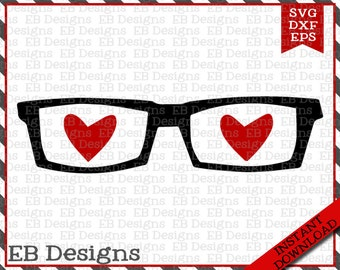 Nerd Love SVG EPS and DXF Cutting Machine File