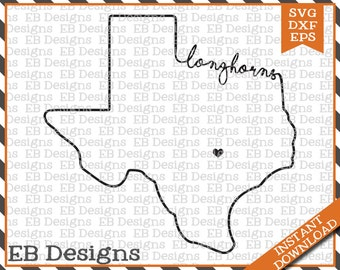 Texas Longhorn (SVG, EPS and DXF)