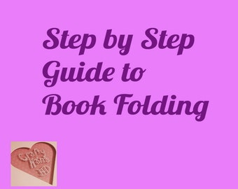Book Folding Patterns - Step by Step Guide - includes FREE Heart Pattern - PDF - Instant Download