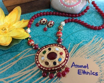 Navgraha Necklace & Earring Set