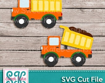 Dump Truck SVG JPG PNG {Scrapbook Die Cut Heat Transfer Vinyl Cut} Cricut svg Silhouette svg Cameo Instant Download Sweet Kate Designs