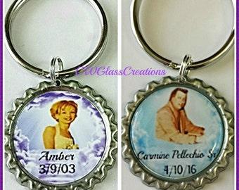 Personalized keepsake gifts angels remembrance keepsake key chain