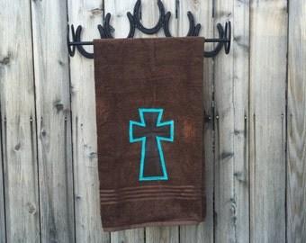 Bath Towel, Cross, Brown, Brown Bath Towels