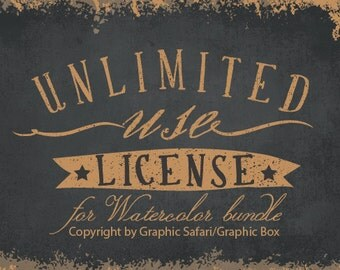 Unlimited Use License for Watercolor Bundle