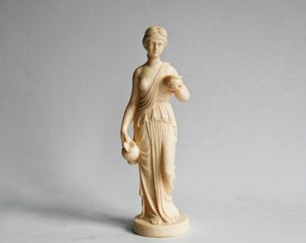 classical statue, museum resin reproduction, neoclassical sculpture, grecian figure figurine museum replica Italian art decor