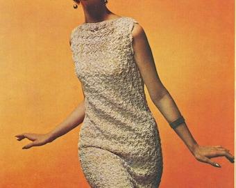 2 Year Sale Crochet Dress Pattern Sleeveless Dress INSTANT DOWNLOAD PDF 1970s Dress Digital File Crochet Pattern