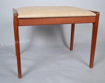 60's Mid Century modern teak footstool / ottoman -   Danish - KS Mobler